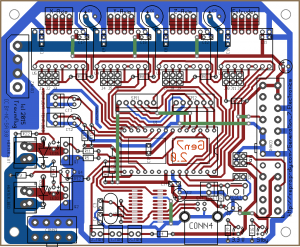 Preview of the layout, seen from the component side.