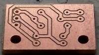This is the bare PCB. Milled with the traditional, non-voronoi method.
